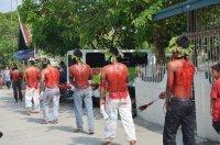 Pašiové hry začínají průvodem flagelantů | San Fernando/Pampanga (centrální Luzon)| Přidal: Wickie, id:20120411145648255