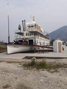 Historická SS Keno | v suchém doku v Dowson city. Kolesový parník přepravolal rudu (Ag, Zn, Pb)| Přidal: Vlk, id:20190709055052381